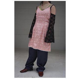 デプト(DEPT)のDept - Embroidered camisole mini dress(ひざ丈ワンピース)