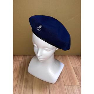 カンゴール(KANGOL)の新品 KANGOL SMUトロピックビッグモンティ ベレー帽 ハンチング L 紺(ハンチング/ベレー帽)