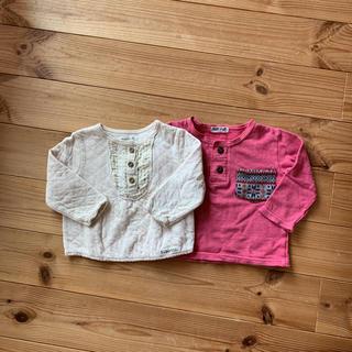 ビケット(Biquette)のBiquette ベビー 女の子 トップス 80 2枚 セット(Tシャツ)