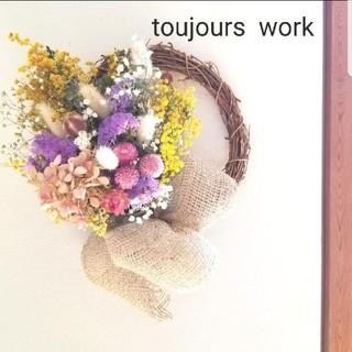 ◆ドライフラワーリース◇spring flower◇◇(ドライフラワー)