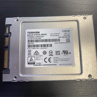 東芝 - 東芝 Toshiba SATA SSD128GB  windows10 搭載