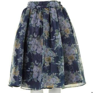 ダズリン(dazzlin)の最終値下げ!dazzlin 花柄 オーガンジースカート(ひざ丈スカート)