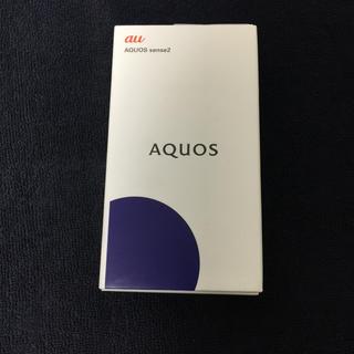 アクオス(AQUOS)のAQUOS sense2 新品未使用 simロック解除済み ブラック(スマートフォン本体)