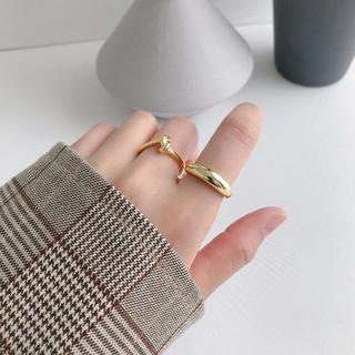 トゥデイフル(TODAYFUL)のSilver 925,pointed moon ring-gold-(リング(指輪))