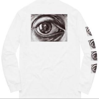 シュプリーム(Supreme)のSupreme M.C. Escher Eye L/S Tee White (Tシャツ/カットソー(七分/長袖))