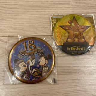 ディズニー(Disney)のtdl tds 缶バッチ ワンマンズドリーム 18周年(バッジ/ピンバッジ)