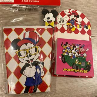 ディズニー(Disney)の上海ディズニー ノート ボールペン メモ帳セット tdl 限定(キャラクターグッズ)