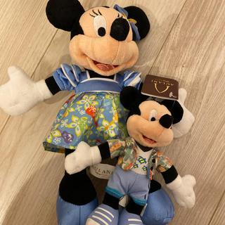 ディズニー(Disney)のアウラニディズニー 限定 ミニー ぬいぐるみ ミッキー キーホルダー(キャラクターグッズ)