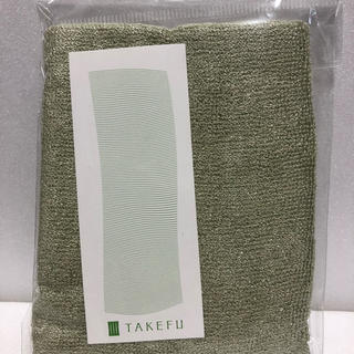 TAKEFU「竹のタオルハンカチ」エコ・グリーン(ハンカチ)
