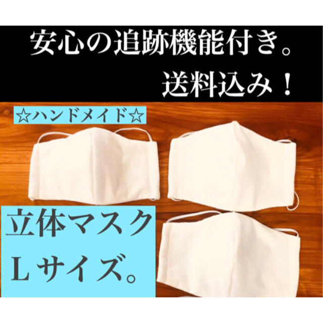 マスク ハンドメイド | ☆L3枚 立体マスク。の通販 by チロココ's shop