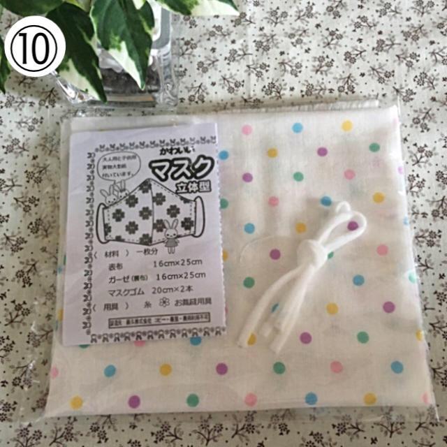 ハンドメイド 立体マスク ダブルガーゼ キットセット (カラー水玉)の通販 by えびちゃん's shop