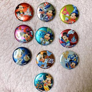 ディズニー(Disney)の【22個】ディズニーランド ディズニーシー 缶バッジセット(バッジ/ピンバッジ)