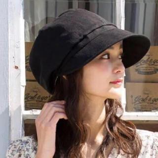 新品*QUEENHEAD 紫外線100%カット 綿麻 UV キャスケット 帽子(キャスケット)