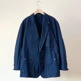 イッセイミヤケ(ISSEY MIYAKE)のISSEY MIYAKE イッセイミヤケ コットン キャンバス藍染めジャケット(テーラードジャケット)