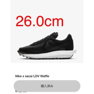 ナイキ(NIKE)のNike × sacai  LDV waffle  Black 26.0cm(スニーカー)