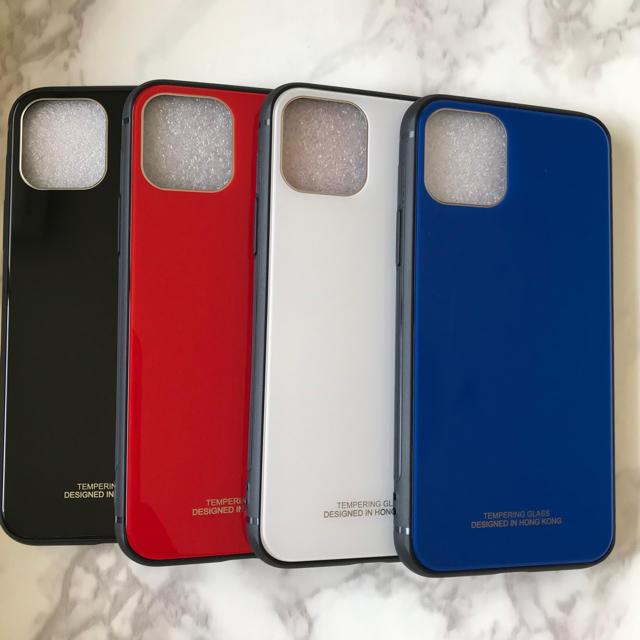 iphone 11 ケース ブランド - 耐衝撃背面9Hガラスケース iPhone11 /11Pro/11ProMaxの通販 by yukino'shop|ラクマ
