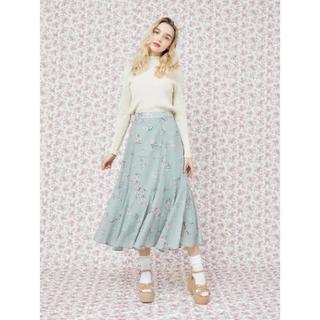 メゾンドフルール(Maison de FLEUR)の本日限定値下げ❗️メゾンドフルールプチローブ フラワープリントマーメードスカート(ひざ丈スカート)