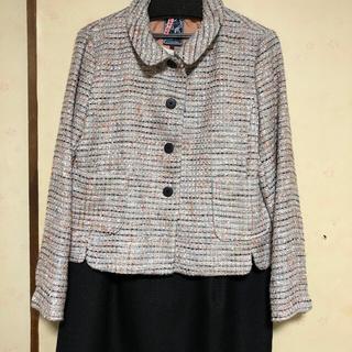 ジュンコシマダ(JUNKO SHIMADA)のジュンコシマダワンピーススーツ15号+紺色ジャケット(スーツ)