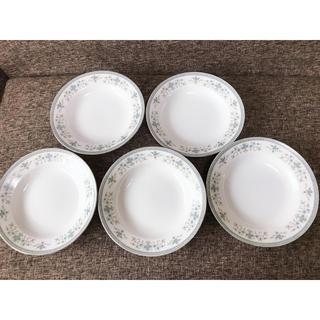 花柄の可愛い皿 5枚(食器)