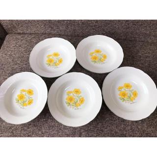 花柄のお皿 5枚セット(食器)