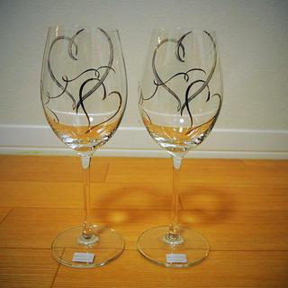 トウヨウササキガラス(東洋佐々木ガラス)の東洋佐々木グラス ペアワインセット ハート柄(グラス/カップ)