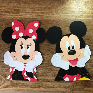 ディズニー(Disney)のオーダー専用 ディズニー風ミッキー&ミニー 壁面 (ガーランド)