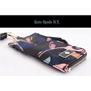 ケイトスペードニューヨーク(kate spade new york)のよっちさん専用:ケイトスペード新品紐付き パスケース チャックポケット付き♡(パスケース/IDカードホルダー)