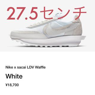 ナイキ(NIKE)の27.5cm】Nike × Sacai LDV Waffle ホワイト(スニーカー)