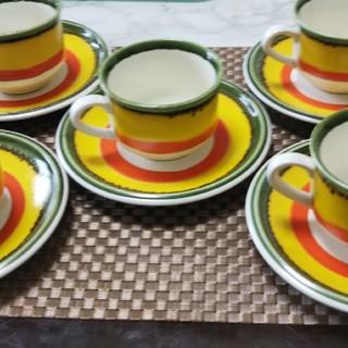 ミカサ(MIKASA)のミカサ コーヒーカップ&ソーサー 5客セット(グラス/カップ)