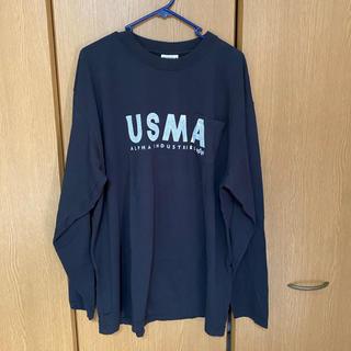 アルファ(alpha)のALPHA アルファ  USMAプリントTシャツ(Tシャツ/カットソー(七分/長袖))