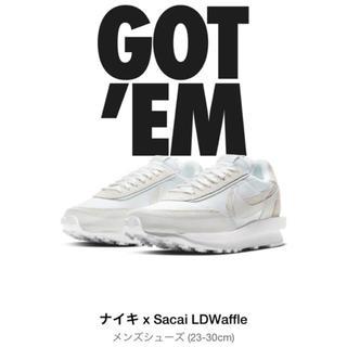 サカイ(sacai)のsacai NIKE LDV WAFFLE WHITE 28.5 白(スニーカー)