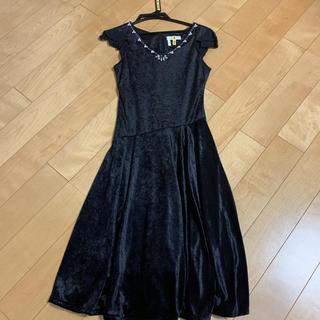エニィスィス(anySiS)の38.anySiS パーティドレス ビジュー ブラック(ミディアムドレス)