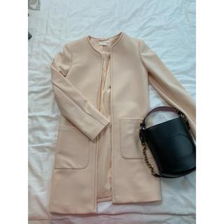 エイチアンドエム(H&M)のノーカラースプリングジャケット(スプリングコート)