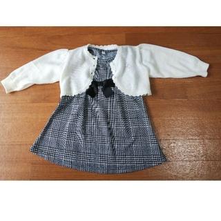 ニシマツヤ(西松屋)のみーほ様用 フォーマルワンピース+カーディガン 90cm(ドレス/フォーマル)