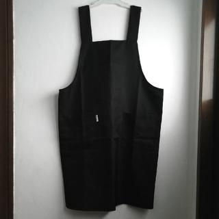 エプロン H型 レディース 無地 黒 ブラック 約93丈(その他)