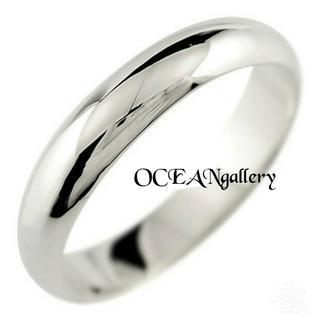 送料無料 19号 シルバー サージカルステンレス シンプル甲丸リング 指輪(リング(指輪))