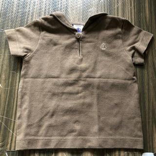 プチバトー(PETIT BATEAU)のプチバトー  セーラー襟 カーキ 半袖シャツ(シャツ/カットソー)