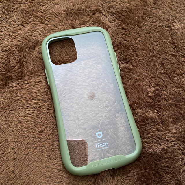 iphone 11 pro ケース 手帳型 ミラー - 【iphone11pro 専用】iFace ガラスケース(カーキ)の通販 by akane's shop|ラクマ