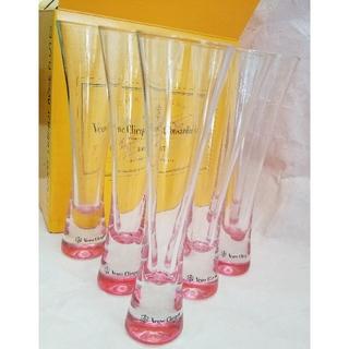 ドンペリニヨン(Dom Pérignon)のヴーヴクリコ  シャンパン フルートグラス 6個セット 今月まで♪(グラス/カップ)