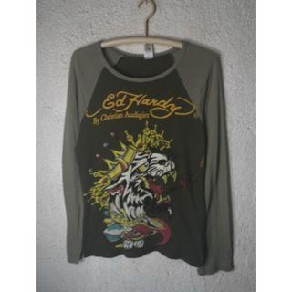 エドハーディー(Ed Hardy)の5777 エドハーディー アメリカ製 ロンt 虎 タイガー タトゥー デザイン(Tシャツ(長袖/七分))