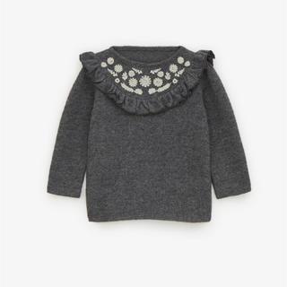 ZARA KIDS - ZARA baby⭐︎刺繍入りピーターパン襟セーター