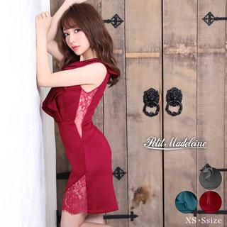 デイジーストア(dazzy store)のプティマドレーヌ  フリルワンカラー透けレースタイトミニドレス(ナイトドレス)