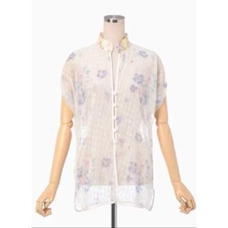 マメ(mame)のぽこ様専用です。 Mame Flower print shirt 新品(シャツ/ブラウス(半袖/袖なし))