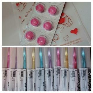 20本 銀イオン歯ブラシ Ag+ 20錠プラークチェッカー(歯ブラシ/デンタルフロス)