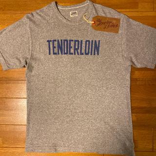 テンダーロイン(TENDERLOIN)の人気品! TENDERLOIN 半袖 Tシャツ ブルー グレー 青 灰色 S(Tシャツ/カットソー(半袖/袖なし))
