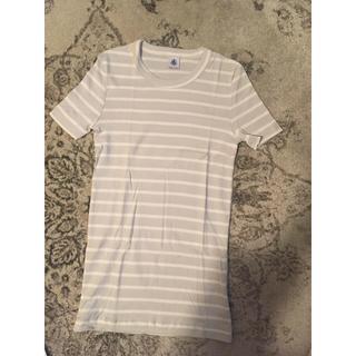 プチバトー(PETIT BATEAU)のプチバトーボーダーTシャツXXSキッズワンピースレディース(Tシャツ(半袖/袖なし))