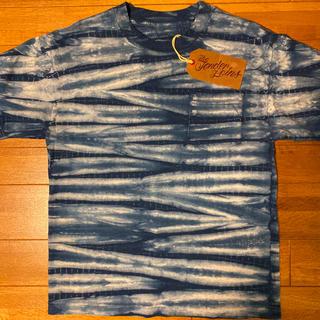 テンダーロイン(TENDERLOIN)の本店限定! TENDERLOIN 半袖 Tシャツ タイダイ 藍染 紺 青 M(Tシャツ/カットソー(半袖/袖なし))