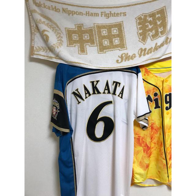 北海道日本ハムファイターズ(ホッカイドウニホンハムファイターズ)の中田翔選手 スポーツ/アウトドアの野球(応援グッズ)の商品写真