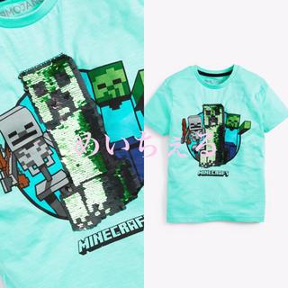 マイクロソフト(Microsoft)の【新品】ティール スパンコール Minecraft 半袖Tシャツ(オールド)(Tシャツ/カットソー)