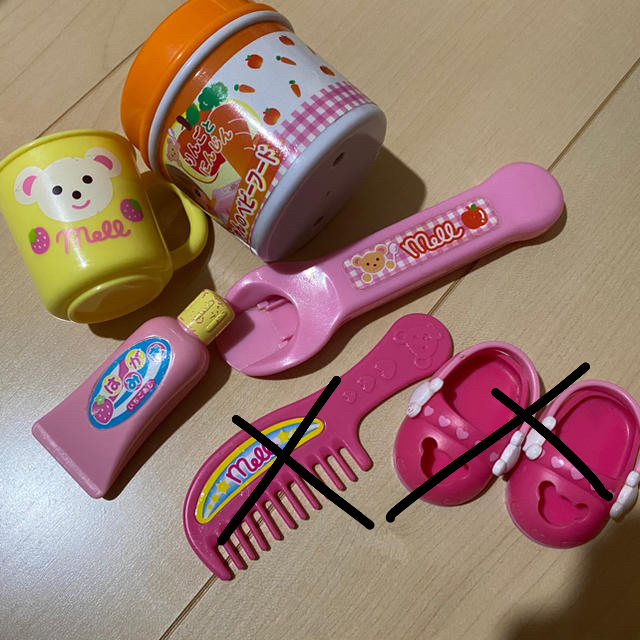PILOT(パイロット)のメルちゃん 小物セット キッズ/ベビー/マタニティのおもちゃ(知育玩具)の商品写真